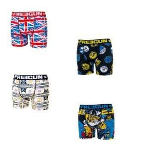 BOXER - SHORTY FREEGUN - LOT DE 4 BOXERS GARCON - MODELE SELON AR
