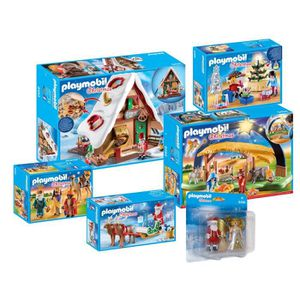 ASSEMBLAGE CONSTRUCTION PLAYMOBIL® Père Noël Set: 9493 9494 9495 9496 9497