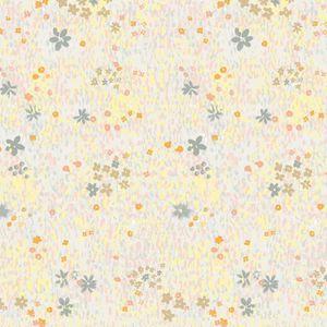 TISSU Tissu Coton léger à la coupe - Fleurs pastel sur f