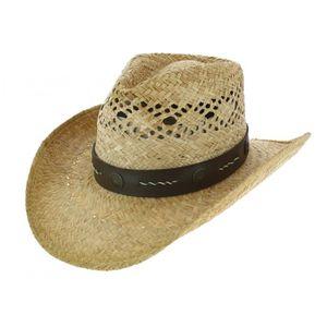 CHAPEAU - BOB Chapeau Cowboy Stagecoach Paille Naturel - Traclet