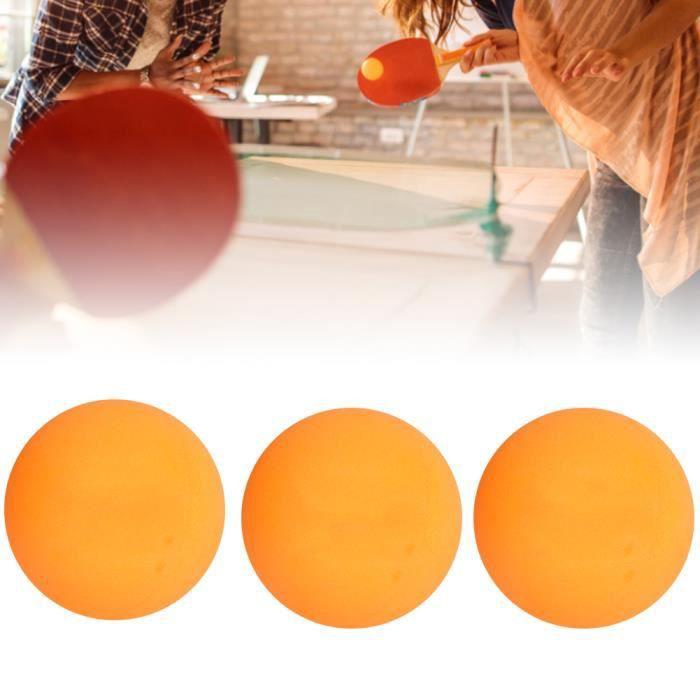 3Pcs Balles de Ping-Pong Durables pour Pratique du Jeu Débutant Entraînement à Compétition Internationale(Jaune )-COL