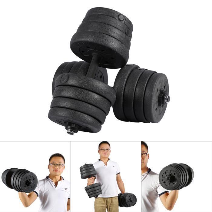 2X Haltères Set Poids Gym Entraînement Biceps Triceps Poids Libre Entraînement 30KG HB010 -JNG