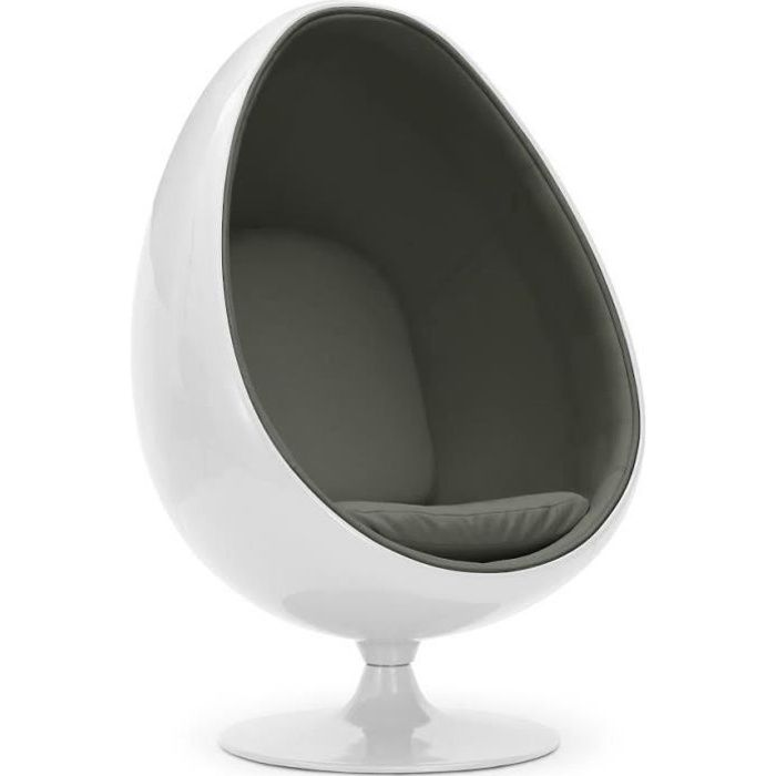 Fauteuil OEUF & EGG Blanc & Gris