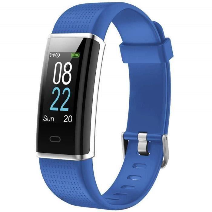 Marqueune Montre Connectée Homme Femme Enfant Smart Watch Smartwatch Sport Running pour iPhone Huawei Samsung Xiaomi Sony Bleu cla
