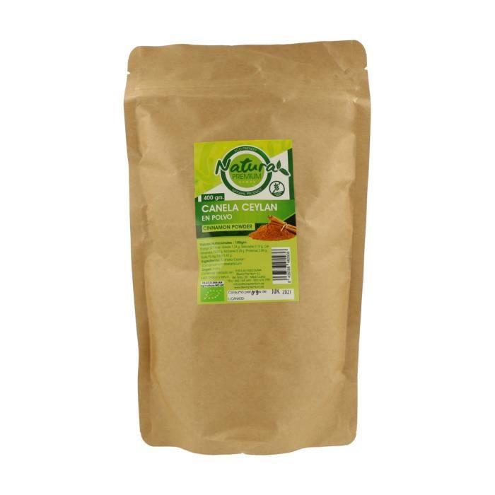 Stevia Premium+Cannelle de Ceylan en poudre 400 g de poudre