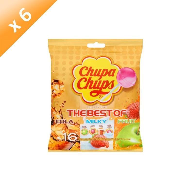[LOT DE 6] Sucettes assorties 192 g Chupa Chups