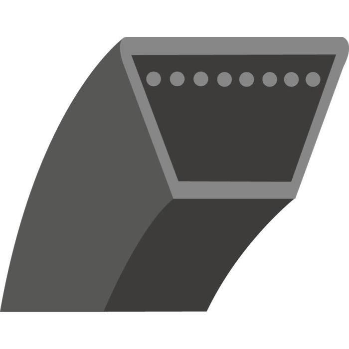 Courroie lisse trapézoïdale qualité d'origine BOLENS, adaptable pour anciens modèles (section: 1/2-, L: 22-)
