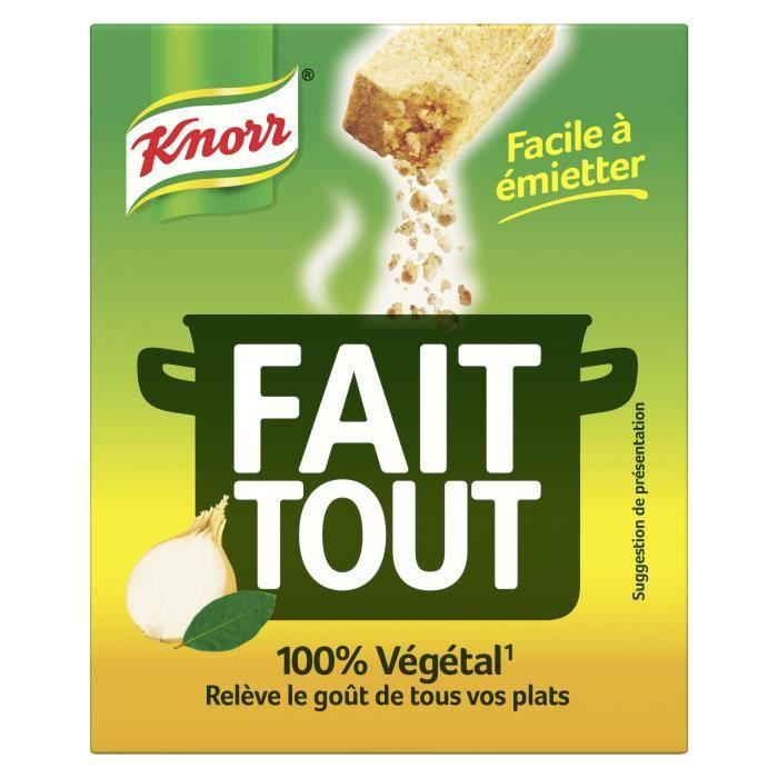 KNORR Bouillon Fait Tout 10 cubes - 100 g