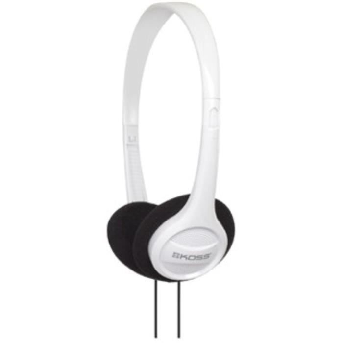 KOSS Casque stéréo On-Ear KPH7 - Blanc