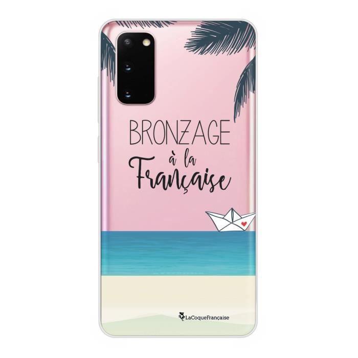 Coque Samsung Galaxy S20 360 intégrale transparente Bronzage à la française Ecriture Tendance Design La Coque Francaise