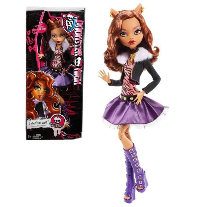 MONSTER HIGH Poupée - Frightfully Tall Ghouls Clawdeen Wolf 43 cm