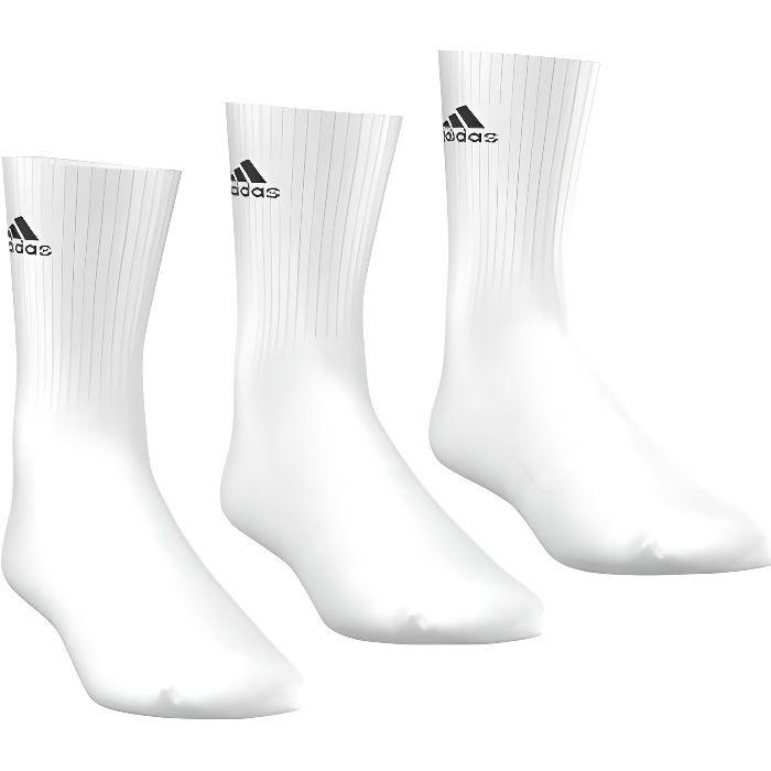 ADIDAS Lot de 3 paires de Chaussettes de tennis - Homme - Blanc