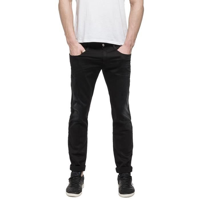 Replay Black Anbass Hyperflex Slim Fit Jean - Denim Pants - M914-06B-009 38-32