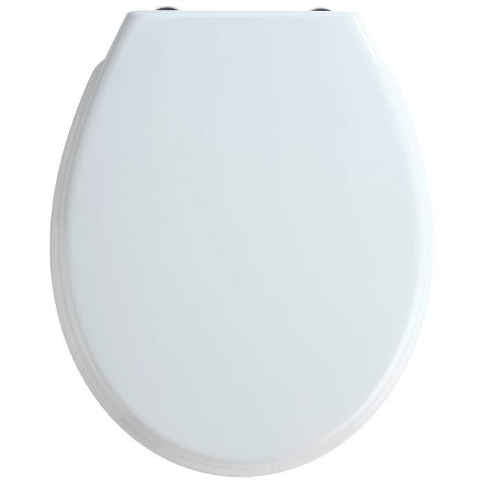 Abattant WC Bilbao coloris blanc, 35 x 43,5 cm
