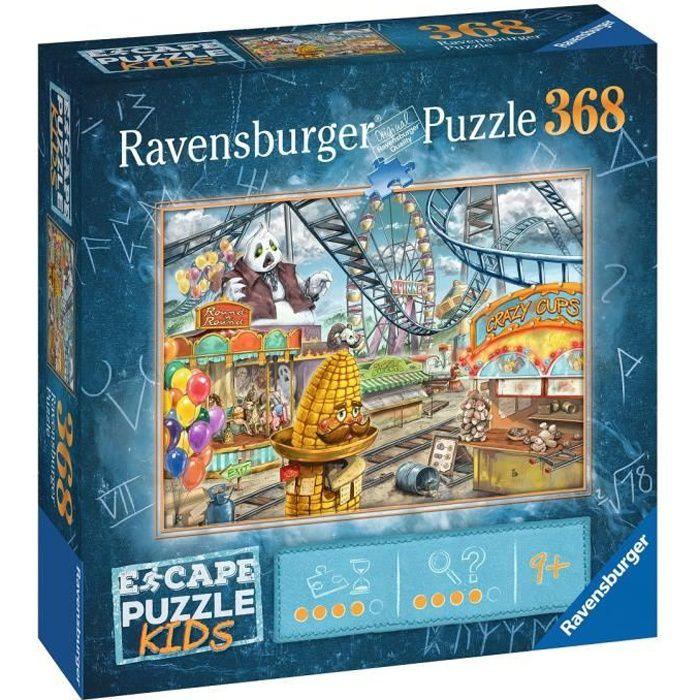 Escape puzzle Kids - Le parc d'attractions - Ravensburger - Puzzle Escape Game 368 pièces - Dès 9 ans