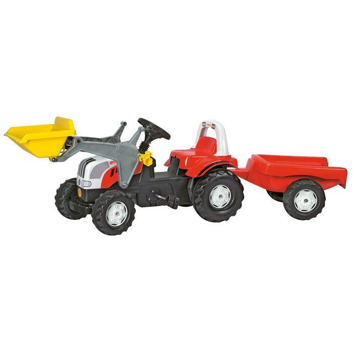 Tracteur STEYR 6190 avec chargeur et remorque Sér…