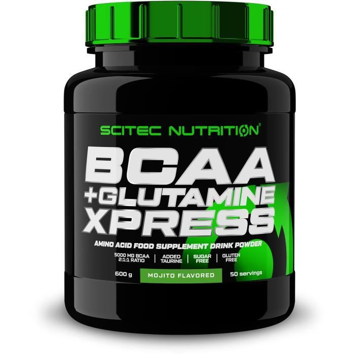 BCAA + Glutamine Xpress 600 g MOJITO - Acides Aminés Scitec