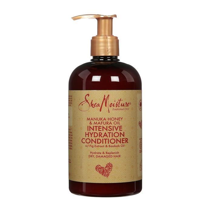 Shea Moisture Après-shampooing Femme Hydratation intense au Miel de Manuka et huile de Mafura nourrit et assouplit les cheveux 384ml
