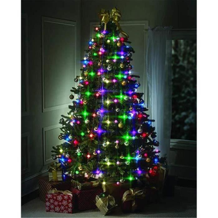 QQ40194-Guirlande Electrique Tree Dazzler À Led 64 Boules Multicolores,Guirlande Lumineuse pour Sapin de Noël,Décoration de Noël