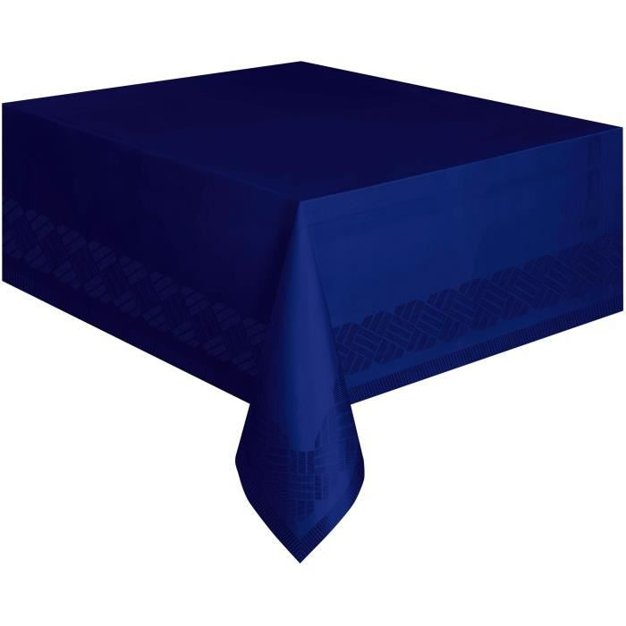 nappe en papier bleu marine doubl e en plastique 137 x 274. Black Bedroom Furniture Sets. Home Design Ideas