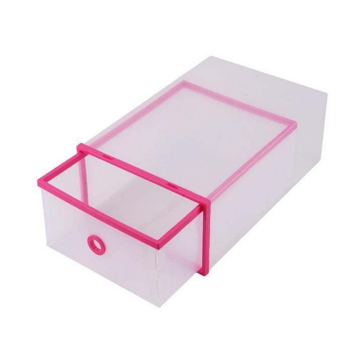 BOITE DE RANGEMENT Boîte à chaussures à deux étages en plastique tran
