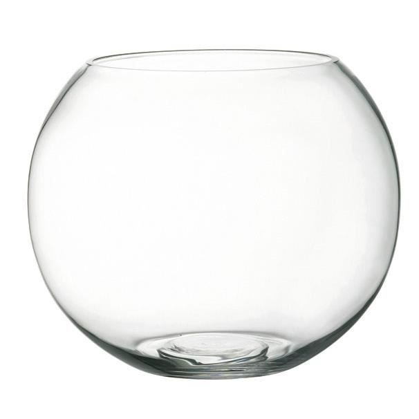 Aquarium rond boule verre 15x12cm poissons rouge achat for Aquarium en boule