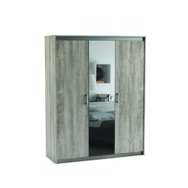 armoire 3 portes miroir achat vente pas cher. Black Bedroom Furniture Sets. Home Design Ideas