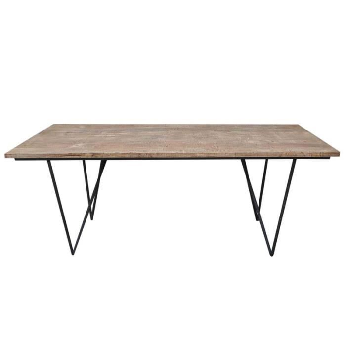 Table de repas en bois factory achat vente table a for Table a manger soldes