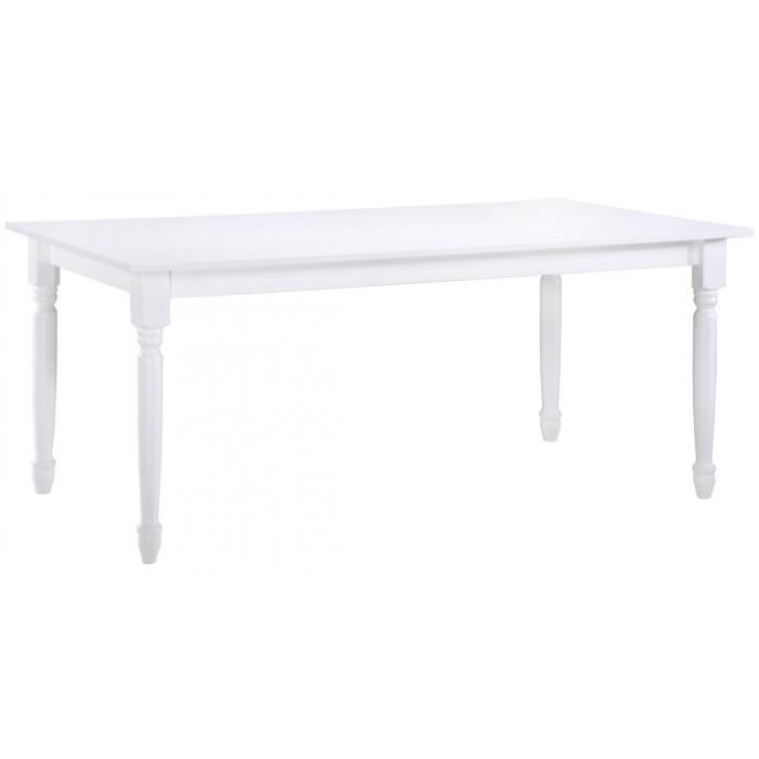 table salle a manger blanc laquee achat vente pas cher