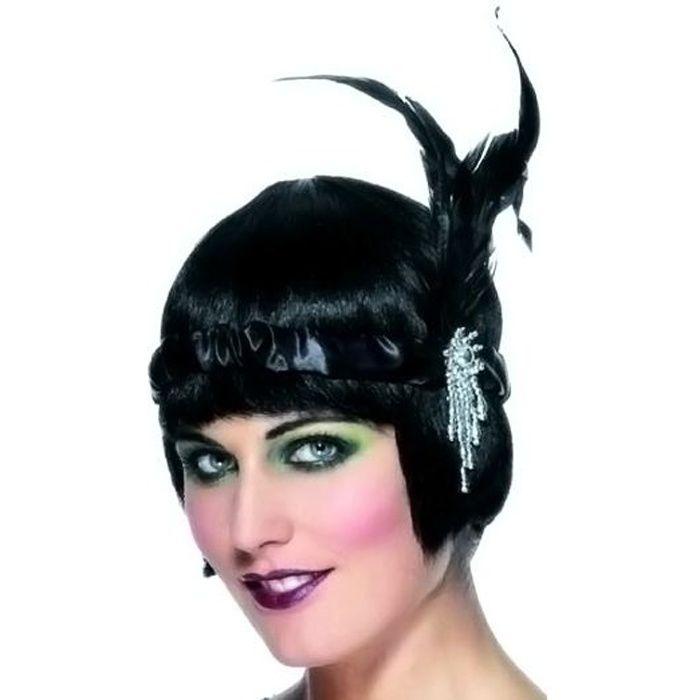 Haichen des ann/ées 1920 Flapper Gatsby plume bandeau des ann/ées 20 Vintage Retro mari/ée mariage Headwear