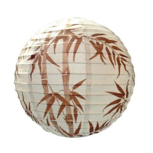 lighting web suspension boule en papier motif bambou marron 40 cm achat vente lighting web. Black Bedroom Furniture Sets. Home Design Ideas