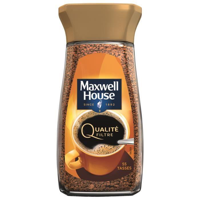 CAFÉ Maxwell House Qualité Filtre cafe soluble bocal -1