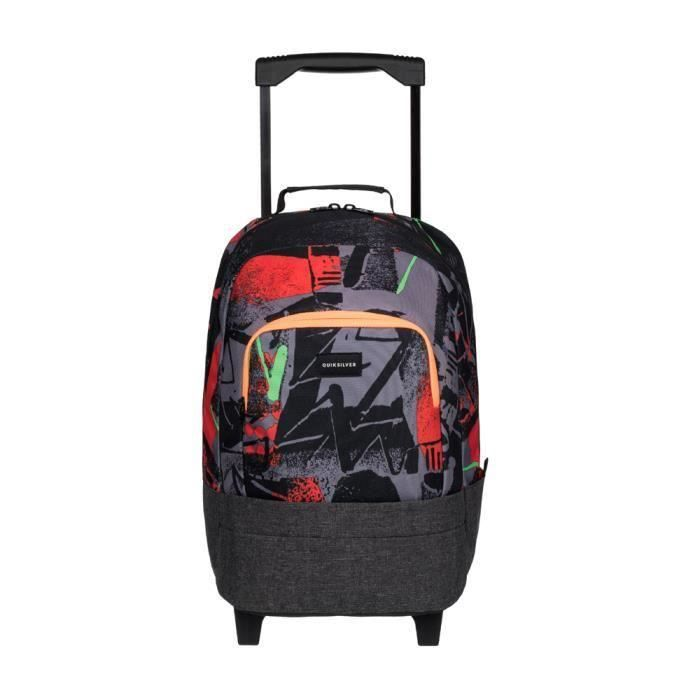 sac dos roulettes quiksilver hallpass labyrinth gar on ecole scolaire 6 13ans noir achat. Black Bedroom Furniture Sets. Home Design Ideas