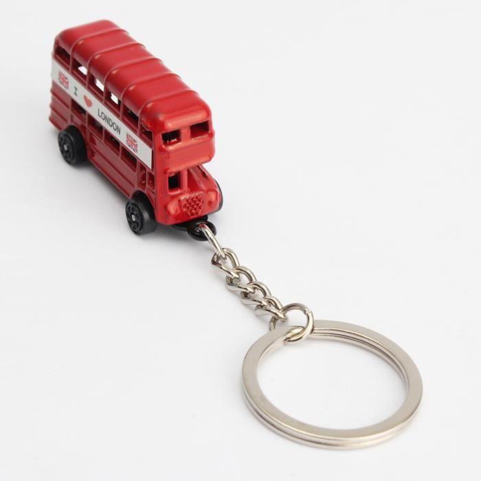 PENDENTIF VENDU SEUL TEMPSA Porté-clés Alliage Mode Rouge-Bus