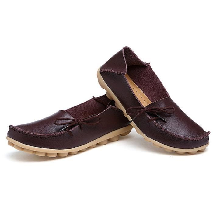 Slip On Flats Drivers Leather Casual Comfort Shoes Boat Loafers Footwear JDIWK Taille-40