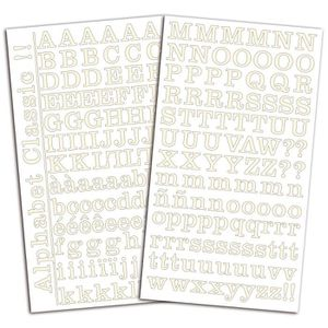 TOGA Set de 2 planches de stickers alphabet - ivoire