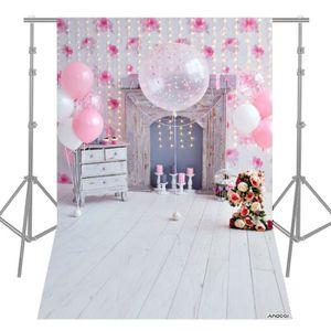 FOND DE STUDIO Photographie Fond Rose Ballon Ampoule Fleur Foyer