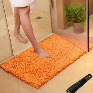 Paco Home Tapis Salle De Bain Moderne Poils Longs Uni Tapis De Bain Antid/érapant Marron Dimension:40x55 cm
