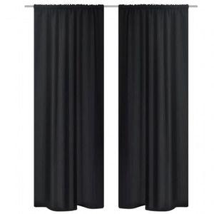 RIDEAU Rideaux Couleur : Noir Dimensions : 140 x 175 cm (