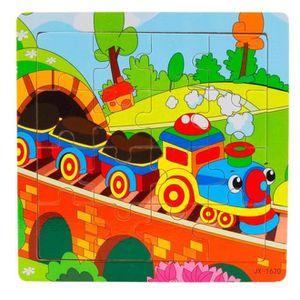 PUZZLE Puzzle Enfants bois 16 pièces jouets Jigsaw éducat