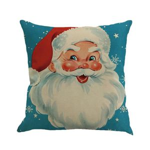HOUSSE DE COUSSIN Noël impression teinture canapé lit maison Decor C