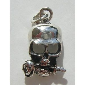T/ête de Mort petit Pendentif en argent 925 Skull
