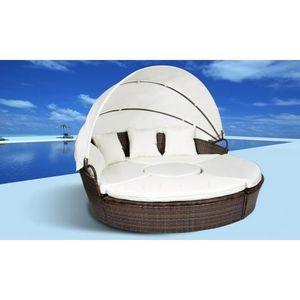 Salon de jardin lit sofa rond modulable - Achat / Vente ...
