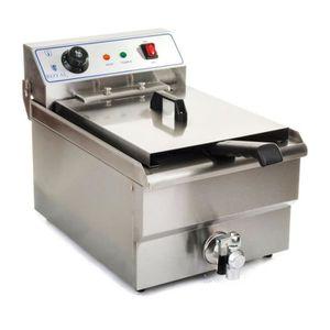 FRITEUSE ELECTRIQUE Friteuse acier inox 1 bac 10 litres cuve et resist