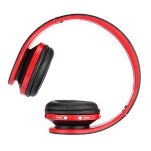CASQUE - ÉCOUTEURS Casque d'écoute Bluetooth, Pliable, sans fil, avec