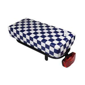 PORTE-BAGAGES VÉLO Coussin à carreaux bleu et blanc Hooodie Big pour