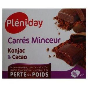 SOIN MINCEUR - DRAINAGE Carrés Minceur  Konjac Cacao Pléniday - 12 carrés