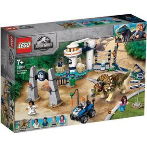 ASSEMBLAGE CONSTRUCTION LEGO® Jurassic World™ 75937 La fureur du Tricérato
