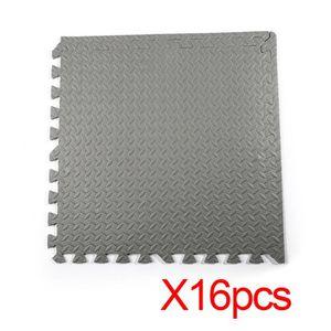 TAPIS DE SOL LESHP 16 PCS 60 * 60 CM Tapis mousse EVA - Gris