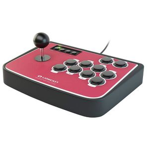 JOYSTICK JEUX VIDÉO Manette Rouge Lioncast Arcade Fighting Stick avec